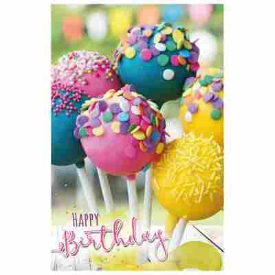 Grußkarte Geburtstag 'Cake Pops'