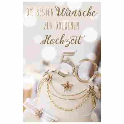 Grußkarte Goldene Hochzeit 'Brilliante 50'