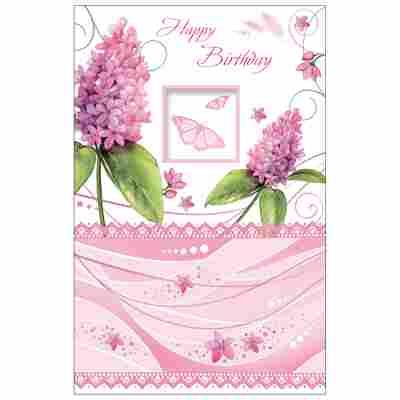 Grußkarte Geburtstag 'Syringa'