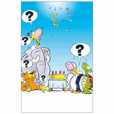 Grußkarte Geburtstag Humor 'Große Frage ?'
