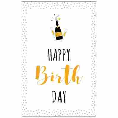 Grußkarte Geburtstag 'Happy Birth Day'