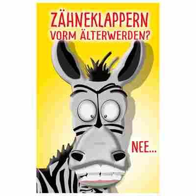 Grußkarte Geburtstag Humor 'Popup-Zebra'