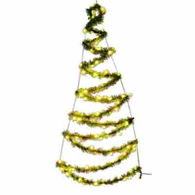 LED-Baum 100 LEDs 150 cm warmweiß
