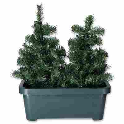 Künstliche Weihnachtsbäume im Kasten grün 50 cm, 2er-Set