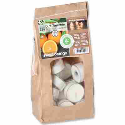Duft-Teelichter 'Orange' Ø 4 x 2 cm, 18 Stück