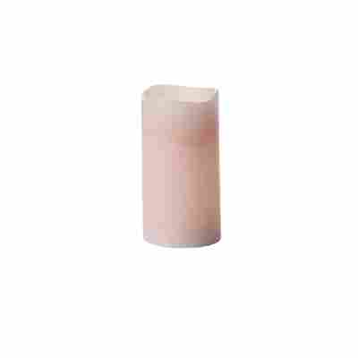 LED-Echtwachskerze 'Magna' rosa Ø 7,5 x 14 cm