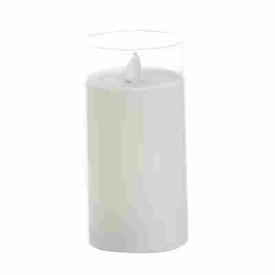 LED-Echtwachskerze im Glas 'Puro' weiß Ø 7,5 x 15 cm