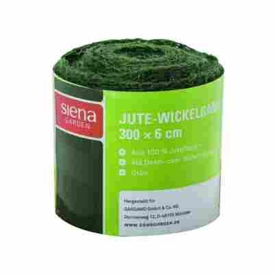 Jute-Wickelband grün, 300 x 6 cm