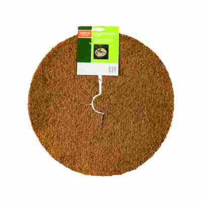 Kokos-Mulchscheibe beige, 45 x 45 cm