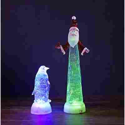 LED-Acryl-Figur 'Pinguin' bunt 3 LEDs, batteriebetrieben