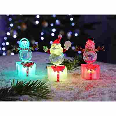 LED-Acryl-Weihnachtsfiguren bunt