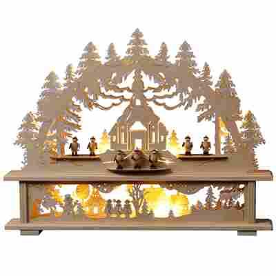 LED-Holzdiorama naturfarben 39 cm