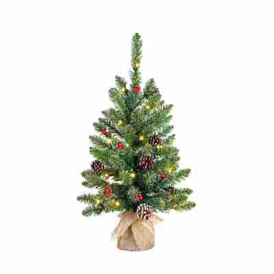 Künstlicher Weihnachtsbaum 'Creston' grün 60 cm, mit LED-Beleuchtung
