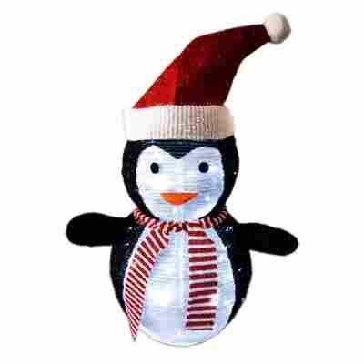 LED-Pinguin 45 LEDs warmweiß 40 x 70 cm