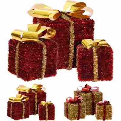 Dekofigur 'Geschenk' rot/gold farblich sortiert