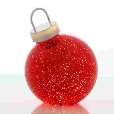 LED Glaskugel 'Noel' grau Ø 15 cm 4 Stück