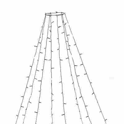 LED-Baummantel 240 LEDs bernsteinfarben 8 Stränge 240 cm