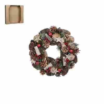 Weihnachtskranz braun/rot Ø 34 cm