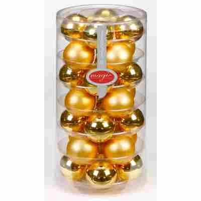 Christbaumkugeln gold Ø 4,5 cm 28 Stück
