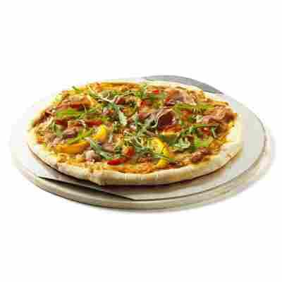 Pizzastein rund Ø 36 cm mit Alu-Blech