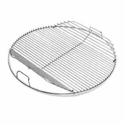 Klappbarer Grillrost für Holzkohlegrills Ø 57 cm beschichteter Stahl