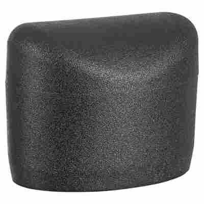 Fußkappen Kunststoff schwarz oval 4 Stück 38 x 25 mm
