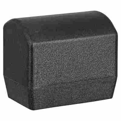 Fußkappen Kunststoff schwarz oval 4 Stück 35 x 20 cm