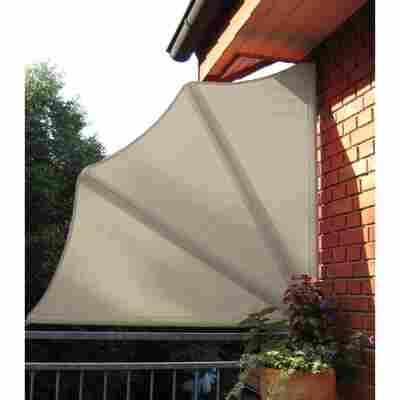 Balkonfächer naturfarben 140 cm