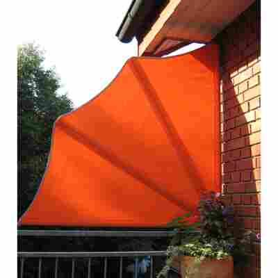 Balkonfächer orange 140 cm
