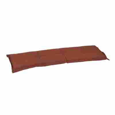 Bankauflage 'Ascot' terrafarben 145 x 45 x 6 cm, für Dreisitzer