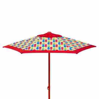 Sonnenschirm 'Puntito' rot Ø 220 x 220 cm