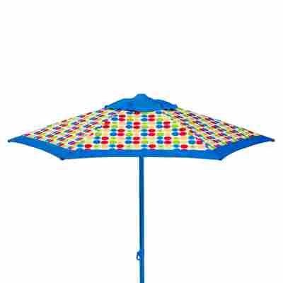 Sonnenschirm 'Puntito' blau Ø 220 x 220 cm