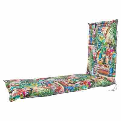 Rollliegen-Wendeauflage 'Nauru' mehrfarbig 196 x 64 x 7 cm