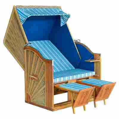 Strandkorb 'Trend 30' blau/braun, 115 x 150 x 80 cm