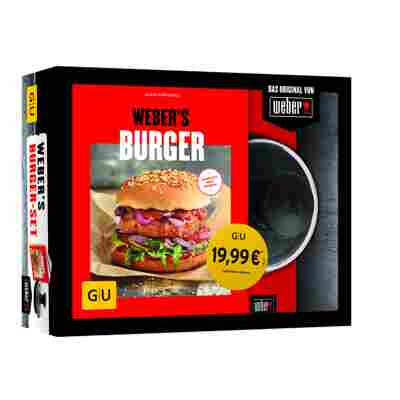 Grillbuch-Set Weber's Burger inkl. Burgerpresse