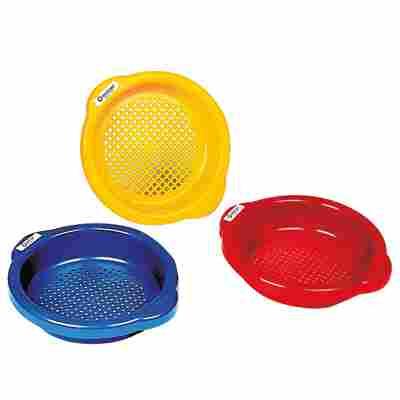 Spielzeugsieb 'Sommer, Sonne, Sand' Ø 16 cm, 3 Farben sortiert