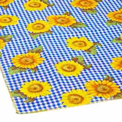 Tischdecke für Bierzeltgarnitur gelb/blau 240 x 100 cm