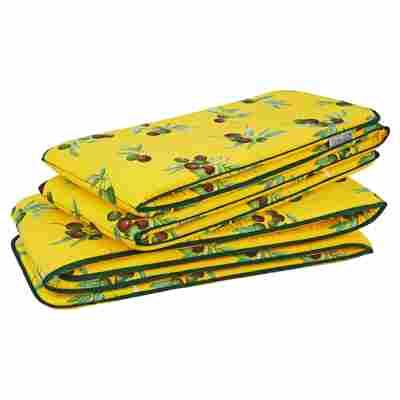 Auflagen-Set für Bierzeltgarnitur gelb 224 x 16 cm, 2-teilig