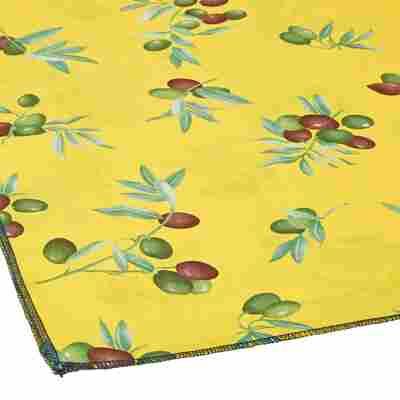 Tischdecke für Bierzeltgarnitur gelb/grün 240 x 100 cm
