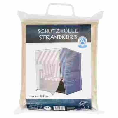 Schutzhülle für Strandkörbe PE-Bändchengewebe transparent 128 x 105 x 165 mm