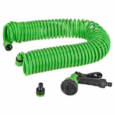 Spiralschlauch-Set grün, 15 m