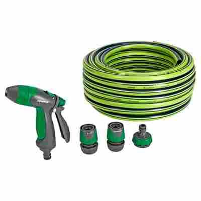 """Gartenschlauch-Set 'Standard' grün Ø 13 mm (1/2""""), 20 m"""