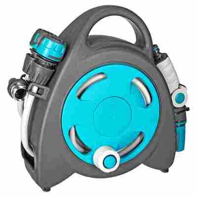 Gartenschlauchtrommel 'Aquabag Mini' blau 11,5 m