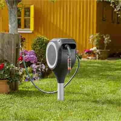 Garten-Schlauchbox 'Roll Up' Größe S, 15 m, weiß