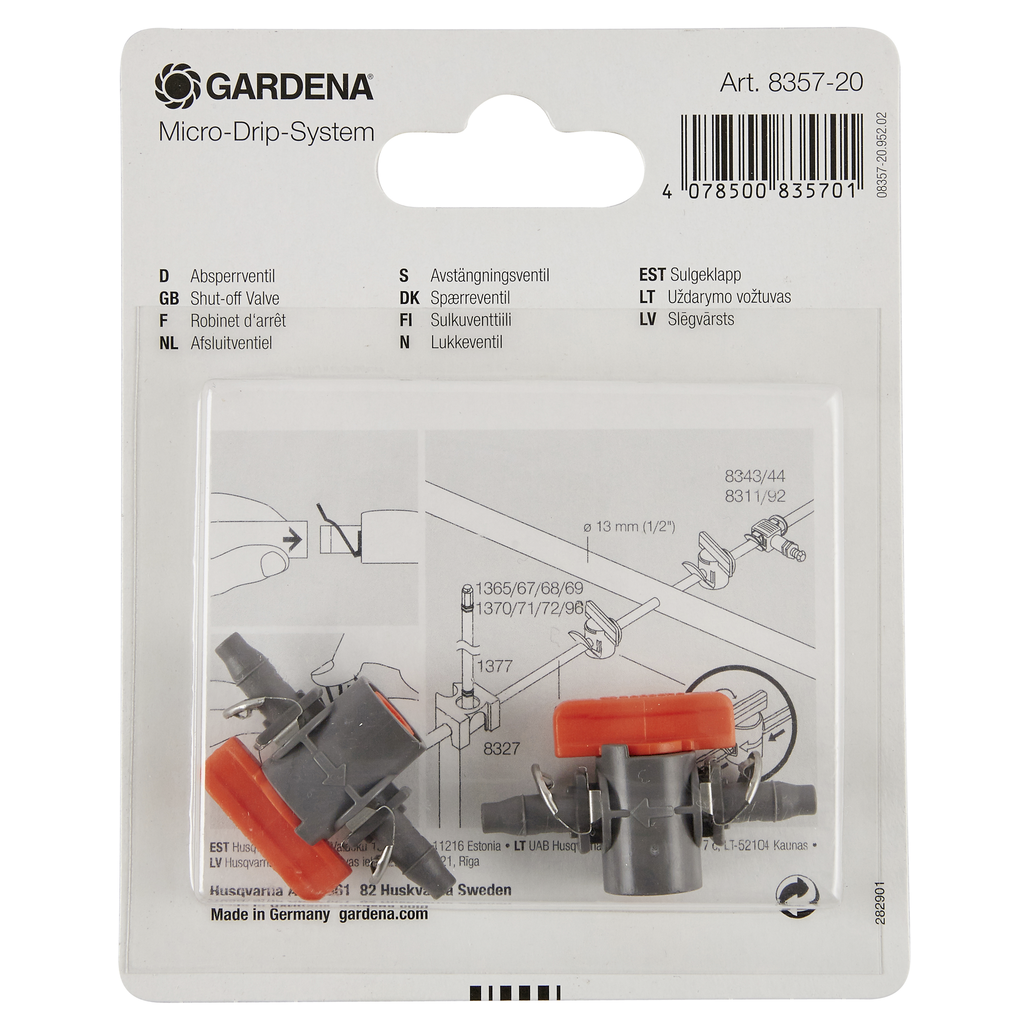 Gardena Absperrventil 4,6 mm, 3/16