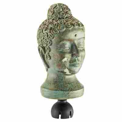 """Aufstecker """"Buddha"""" kupfergrün"""
