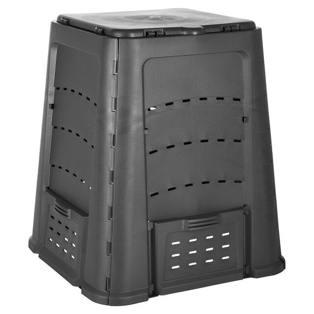 toom kunststoff thermokomposter 84 x 84 x 105 cm 600 l toom baumarkt. Black Bedroom Furniture Sets. Home Design Ideas