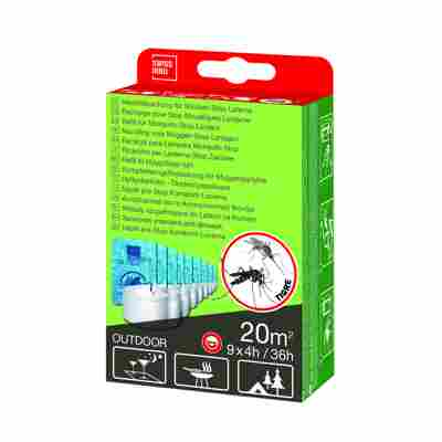 Nachfüllset für Mückenstop-Laterne 9 Stück à 4 Stunden