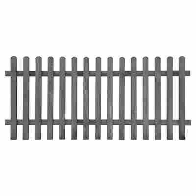 Vorgartenzaun 180 x 80 cm grau gebeizt