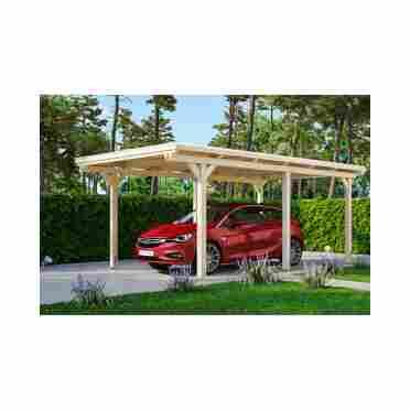 Skan Holz Einzelcarport Emsland Mit Alu Dach 354 X 238 604 Cm